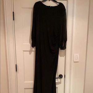 Lauren Ralph Lauren Black long sleeve gown